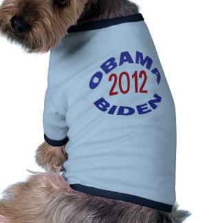 Obama - Biden 2012 redondos Ropa De Perro