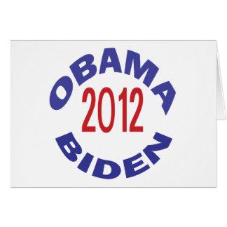 Obama - Biden 2012 redondos Tarjeta De Felicitación