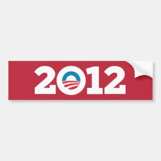 Obama/Biden 2012 (rojo) Pegatina De Parachoque