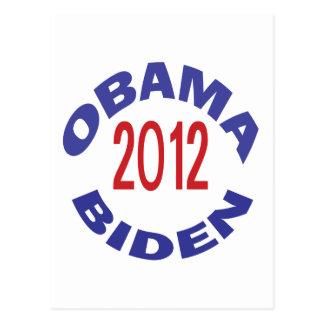 Obama - Biden 2012 Round Postcard