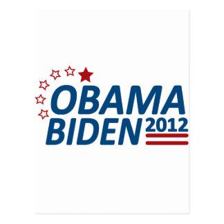 Obama Biden 2012 Stars Postcard