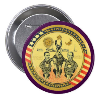 Obama Biden 2012 Washington, C.C. Pin Redondo De 3 Pulgadas