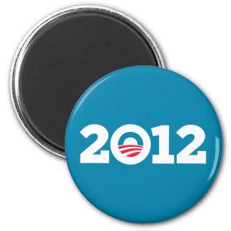 Obama Biden 2012 White on Blue Magnet