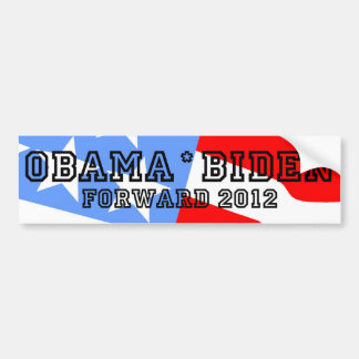 Obama Biden adelante Etiqueta De Parachoque