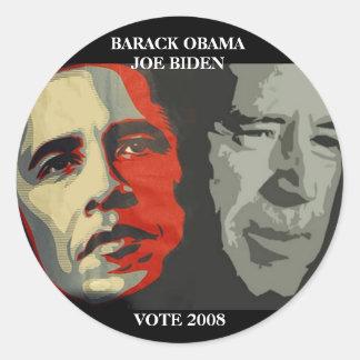 obama biden art copy , BARACK OBAMA    JOE BIDE... Classic Round Sticker