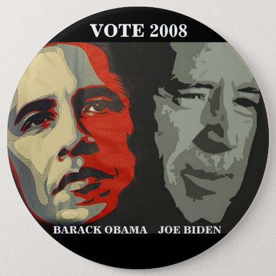 obama biden art copy , BARACK OBAMA    JOE BIDE... Pinback Button