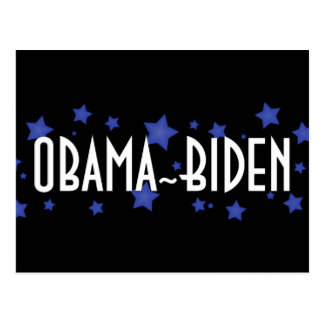 Obama Biden Blue Stars Postcard