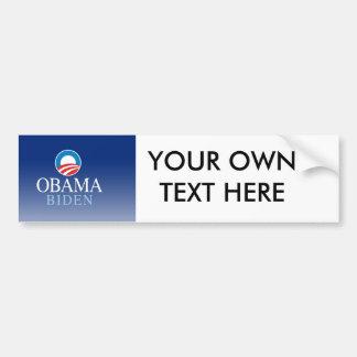 Obama/Biden Etiqueta De Parachoque