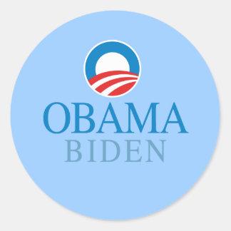 Obama Biden Classic Round Sticker