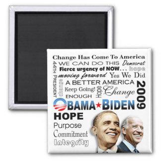 Obama Biden Collage Magnet (white)