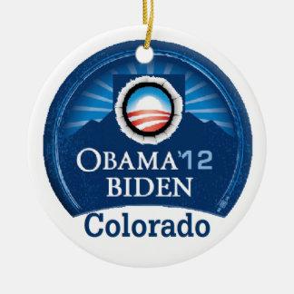 Obama Biden COLORADO Ceramic Ornament