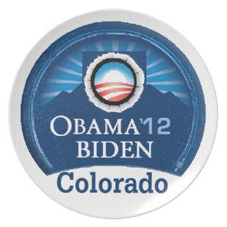 Obama Biden COLORADO Melamine Plate