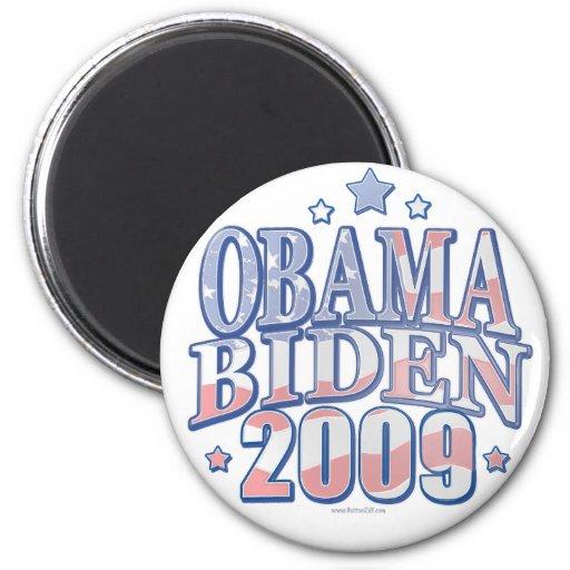 Obama Biden de 'engranaje 09 gráficos Imán Redondo 5 Cm