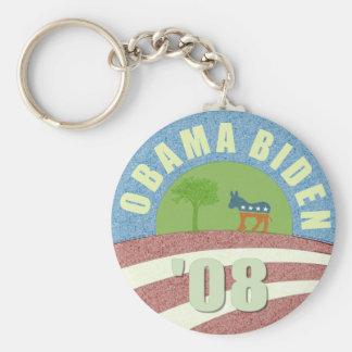 Obama Biden de 'llavero del logotipo 08 vintages
