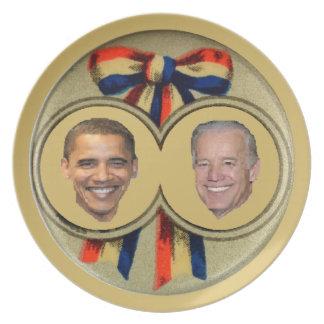 Obama Biden Dinner Plate