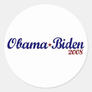 Obama Biden (edición clásica) Etiqueta Redonda