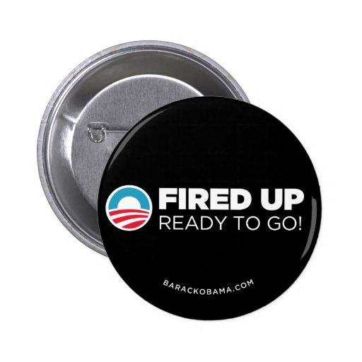 Obama Biden encendido para arriba, alista para ir  Pin Redondo De 2 Pulgadas