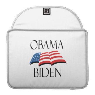 OBAMA BIDEN FLAG BLACK -.png Sleeves For MacBooks