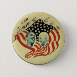Obama/Biden Flag Button