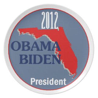 Obama Biden FLORIDA Melamine Plate