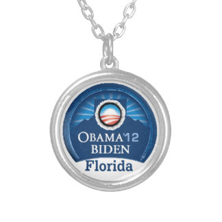 Obama Biden FLORIDA Silver Plated Necklace