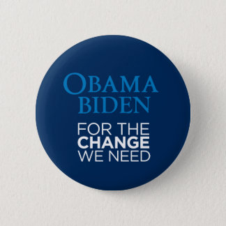 Obama Biden for the Change We Need Button