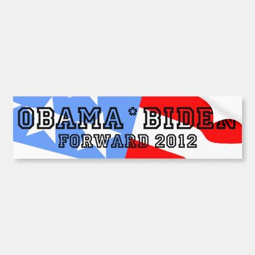 Obama Biden forward Car Bumper Sticker