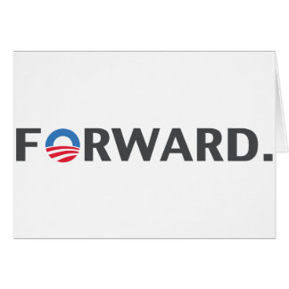 Obama / Biden Forward Slogan (Grey) Card