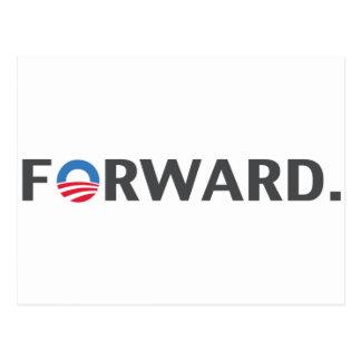 Obama / Biden Forward Slogan (Grey) Postcard