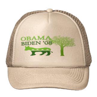 Obama Biden Green '08 Trucker Hat
