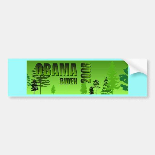 Obama Biden Green Bumper Sticker 2008 Car Bumper Sticker