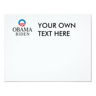 """Obama/Biden Invitación 4.25"""" X 5.5"""""""