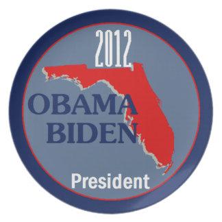 Obama Biden la FLORIDA Plato Para Fiesta