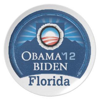 Obama Biden la FLORIDA Platos