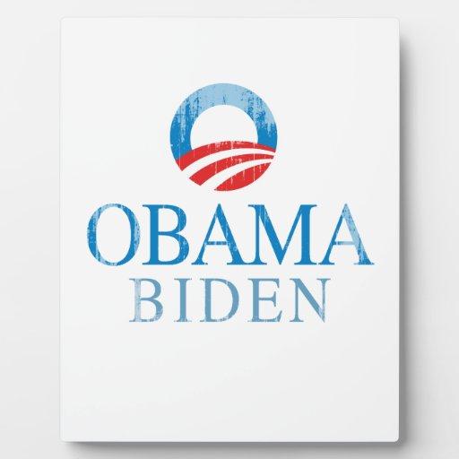 Obama BIden O Vintage.png azul Placas Con Foto