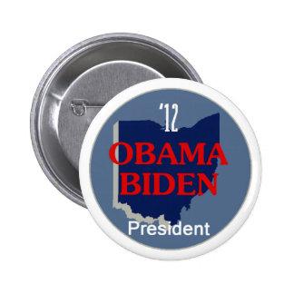 Obama Biden OHIO Pinback Button