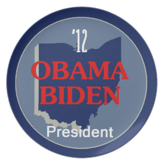 Obama Biden OHIO Plato Para Fiesta