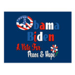 Obama Biden Peace and Hope 2008 copy Post Cards