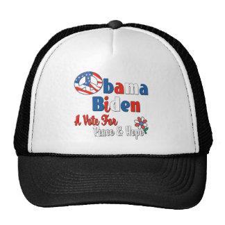 Obama Biden Peace and Hope 2008 Trucker Hat