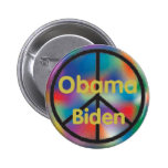 Obama Biden Peace Button