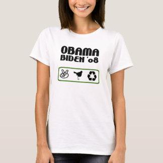 Obama Biden Peace Hope Recycle Womens Shirt