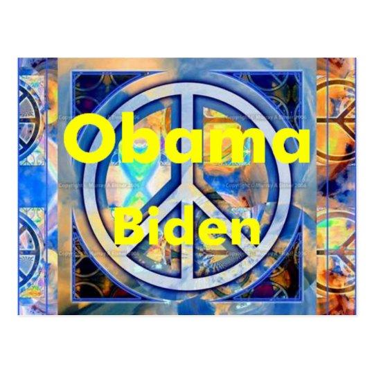 Obama Biden PEACE Postcard