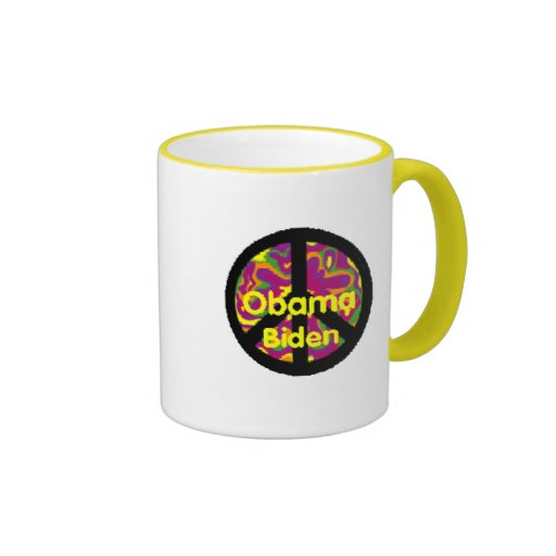Obama Biden Peace Sign Mug