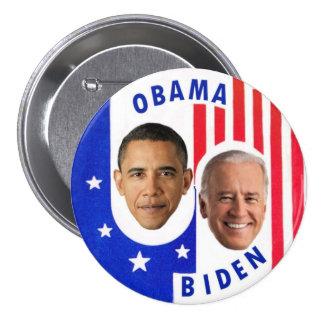 Obama Biden Pin Redondo De 3 Pulgadas