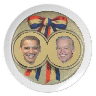Obama Biden Plato De Comida