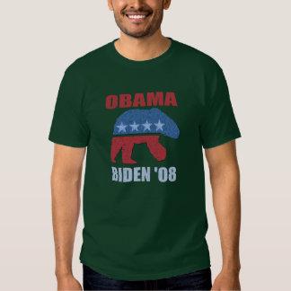 Obama Biden Polar Bear Hooded Green Sweatshirt
