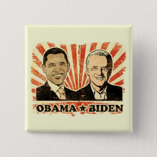 Obama Biden Portraits Button