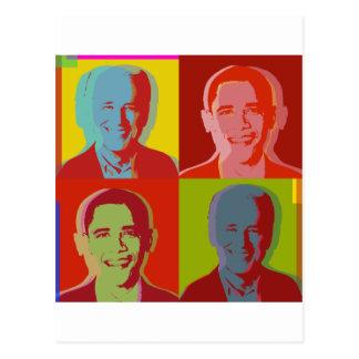 Obama biden postcard