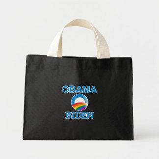 Obama Biden Pride Button Tote Bag