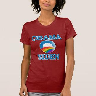 Obama Biden Pride Button T-shirt